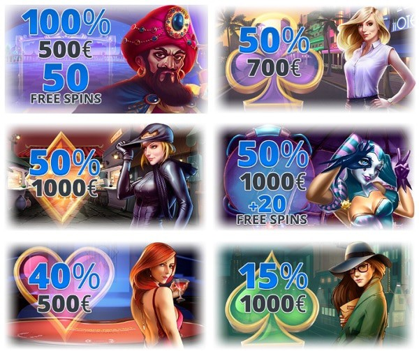 Ego bonuses and free spins
