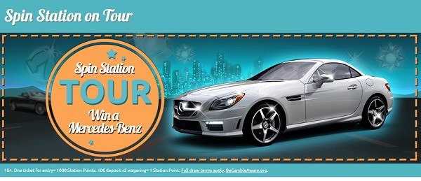 Spin Station Prize Draws - win Mercedes Benz