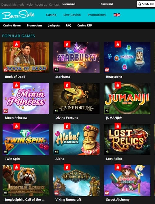 Buzz Slots Casino Review