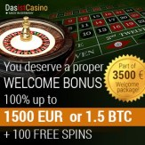 DasIstCasino 3.5 BTC bonus and 250 free spins