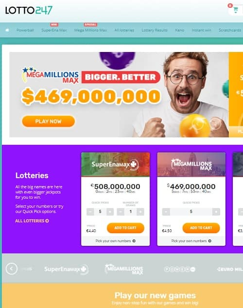 Lotto 247 Casino free bonus