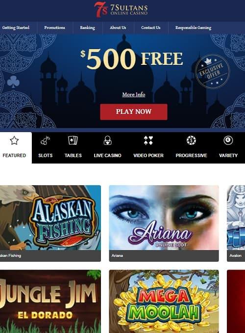 7Sultans Casino free spins bonus
