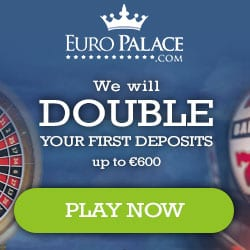 Euro Palace Casino 100 free spins + 300% up to €600 bonus chips