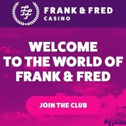 Frank & Fred Casino no deposit bonus: 100 free spins on registration