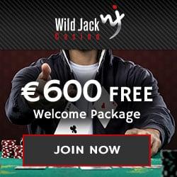 Wild Jack Casino 100 free spins & €600 match bonus - instant free play!