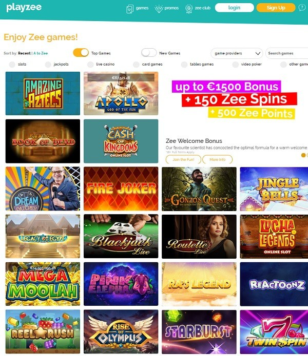 Playzee Casino rating & review