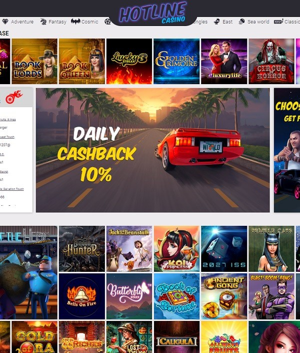 Hotline Casino online and mobile