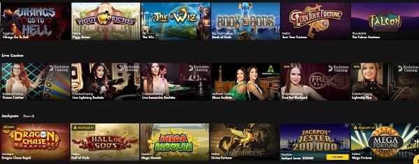 Bethard Casino free games