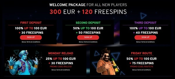 N1 Casino welcome bonus and promotions, bonus codes, free spins