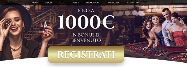 1.000 EUR bonus on casino games