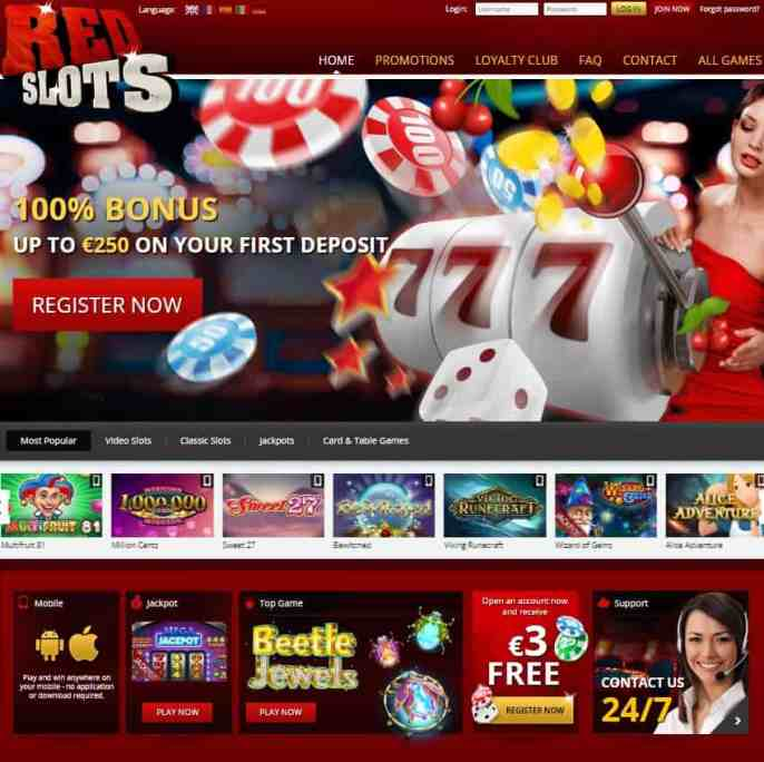 RedSlots Casino Review