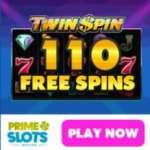 Prime Slots – 110 free spins NDB and €200 free casino bonus