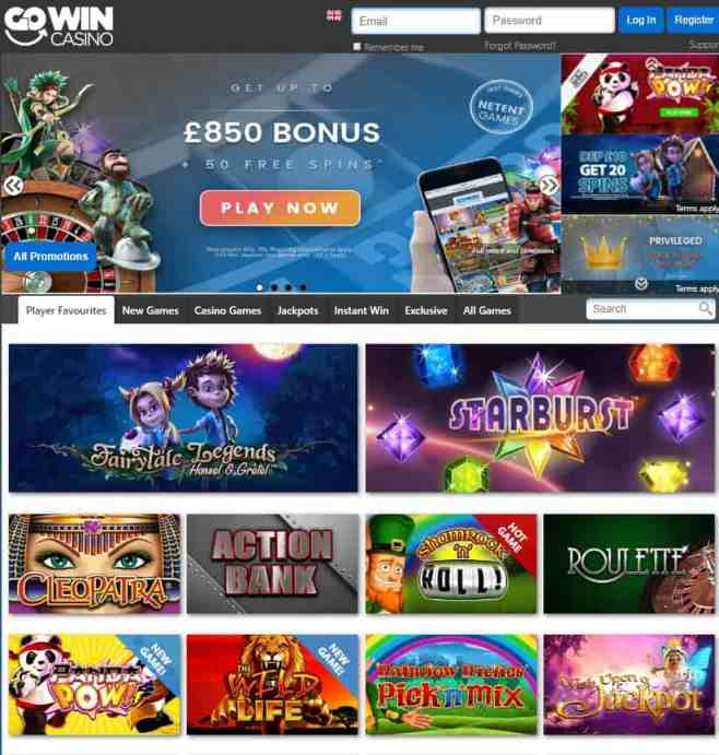 GoWin Casino Free Spins Gratis