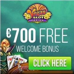 Vegas Slot Casino 100 free spins + 200% up to €700 free bonus