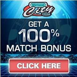 Virtual City Casino 100 free spins and 500% up to $500 bonus