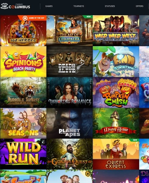 Columbus Casino Online & Mobile Free Spins