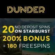 Dunder Casino banner 250x250