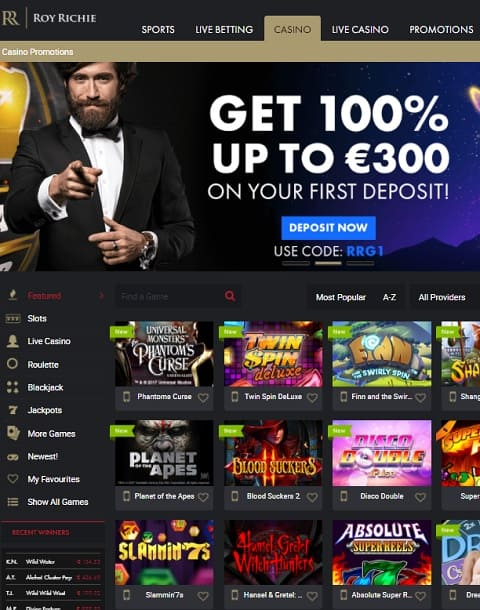 Roy Richie Casino free bonus