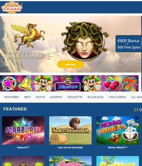 FreakyVegas Casino Review