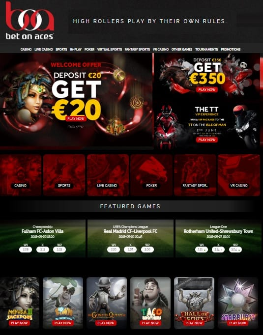 Bet On Aces Casino free spins
