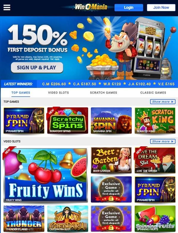 Winomania Casino Online & Mobile