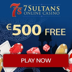 7Sultans Casino 100 gratis spins and $500 free play bonus