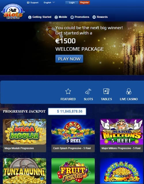 All Slots Casino free spins and no deposit bonus