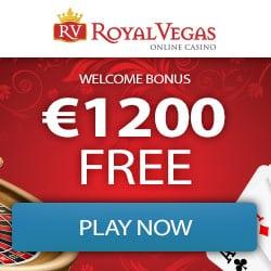 Royal Vegas Casino 150 free spins & 300% up to €1,200 free bonus