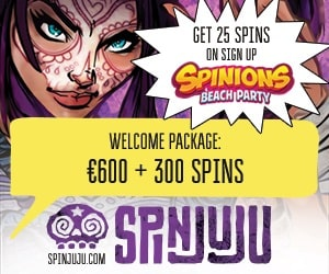 SpinJuju Casino - 25 free spins no deposit bonus on registration