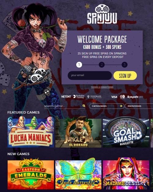 Spin Juju Casino free spins bonus