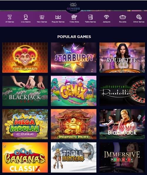 Genesis Casino Online & Mobile - review