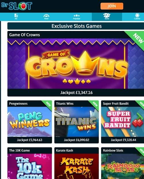 Dr Slot Casino free bet bonus