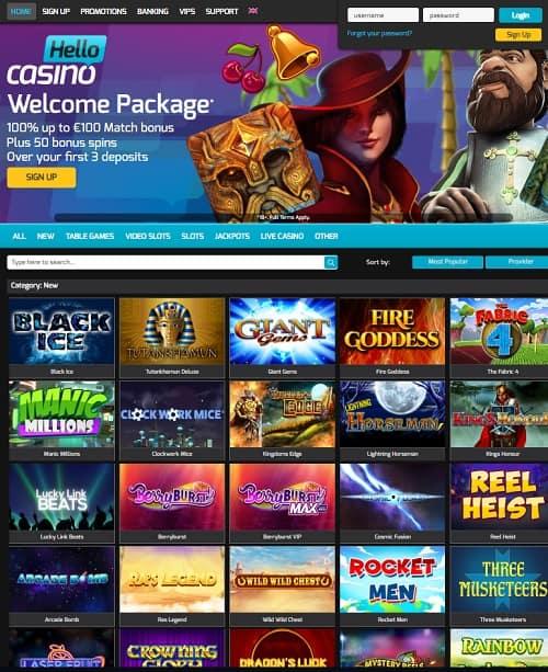 Hello Casino free bonus