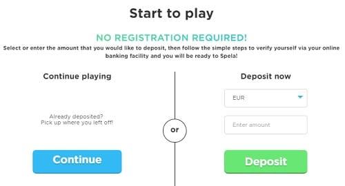 Spela Casino Trustly payment