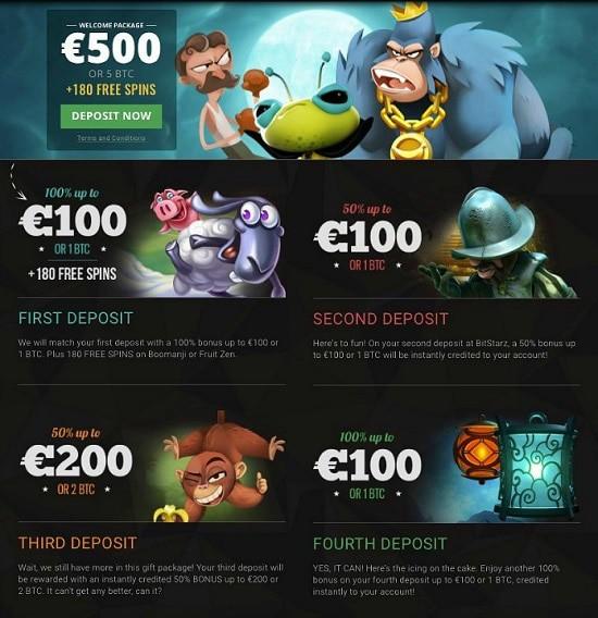 Bitstarz Bitcoin Casino 200 free spins and 5 Bitcoin welcome bonus