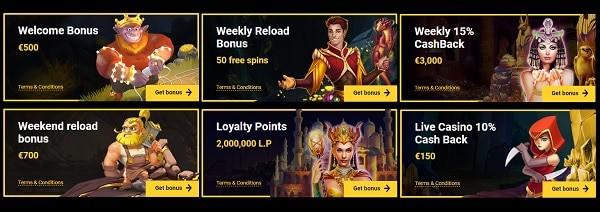 Zet Casino bonuses and promotions