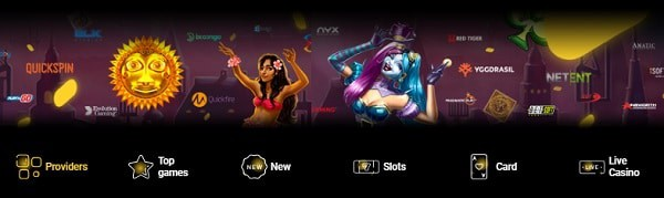 Zet Casino online games and providers