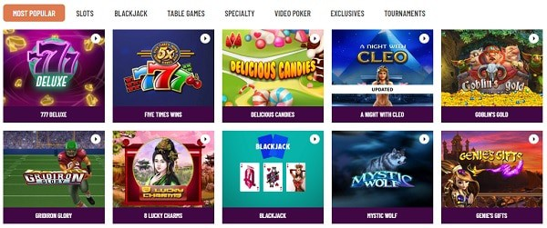 Cafe Casino online games