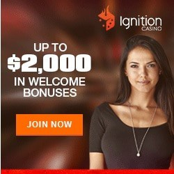 Ignition Casino [register & login] $10 no deposit + $2000 free bonus