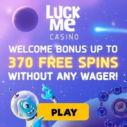 LuckMe Casino - sign up for 370 free spins welcome bonus