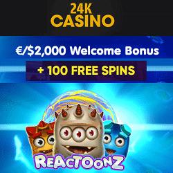 24K (24kcasino.com)   No Deposit Free Spins Bonus