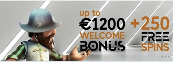 GoPro Casino 1200 eur welcome bonus and 250 free rounds