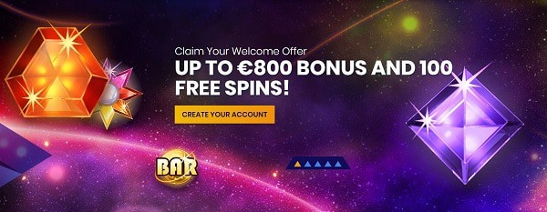 Casiplay Casino 800 EUR bonus and 100 gratis spins