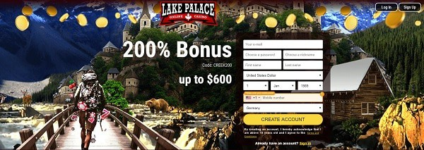 Lake Palace Casino 200% bonus