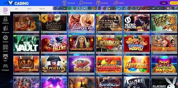 IVI Casino homepage