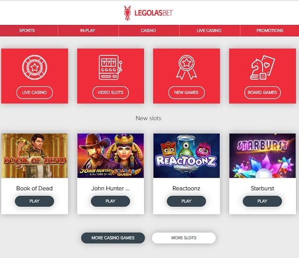 Legolasbet casino review