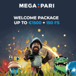 Megapari Casino & Sportsbook 100% bonus and 150 free spins
