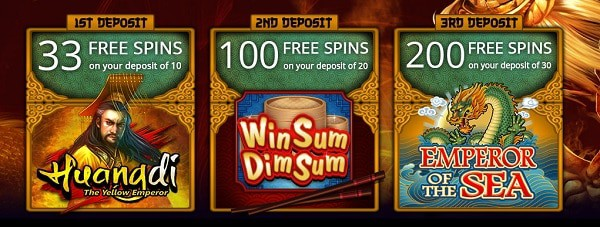 JackpotCity Casino 333 free spins on slot machines (Microgaming)