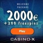 CASINO-X review: 200 free spins & 100% bonus up to $/€2,000
