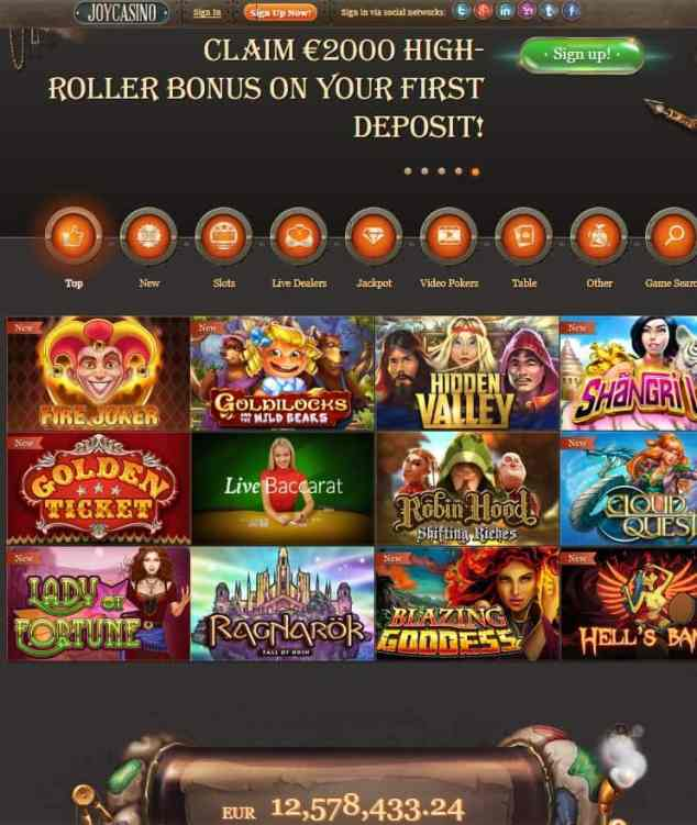 Joy Casino Free Spins